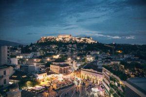 visiter Athenes la nuit