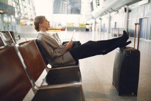 attendre un avion