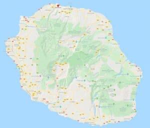 Carte pour savoir où aller à la Réunion
